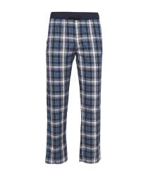 Men's Blue Check Lounge Trousers