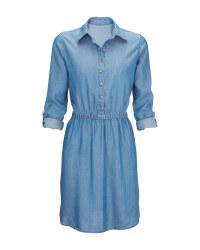 Ladies' Light Blue Denim Dress