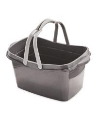 Grey Full Walls Shopping Basket