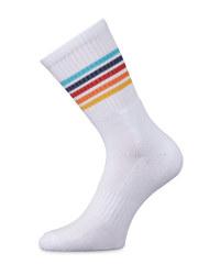 Aldi Mania White Striped Socks
