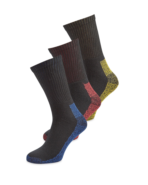 Men's Black & Colour Socks
