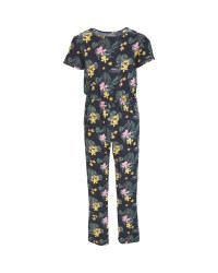Children's Floral Jumpsuit