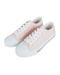 Avenue Pink Canvas Trainers
