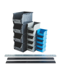 Workzone Storage Bin Set 17 Piece