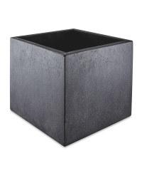 Black Square Terrazzo Plant Pot