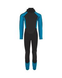 Grey & Blue Childrens' Full Wetsuit