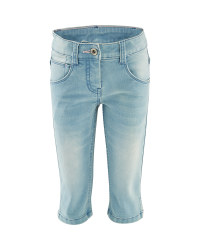 Girl's Blue Crop Trousers