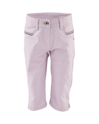 Girl's Purple Crop Trousers