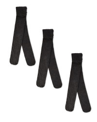 Girl's Grey Tights 3 Pack