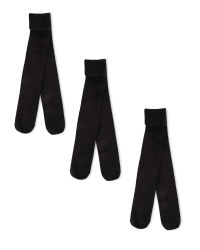 Girl's Black Tights 3 Pack