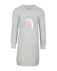 Children's Grey Organic Sweatdress