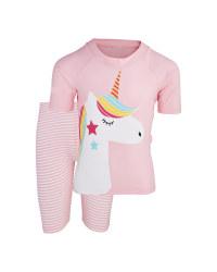 Kids Pink UV-Protection Swimwear
