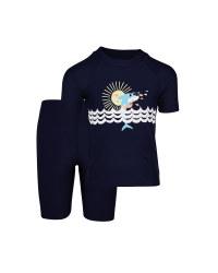 Kids Navy UV-Protection Swimwear