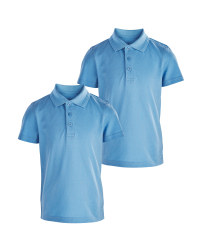 Boy's Blue Polo 2 Pack