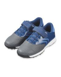 Grey & Blue Football Boots