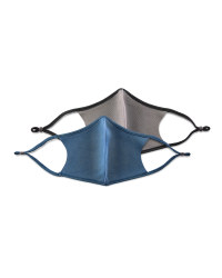 Crane Blue and Grey Face Coverings