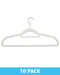 Kirkton House Grey Flocked Hangers