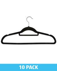 Kirkton House Black Flocked Hangers