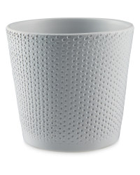 Gardenline 12cm Dots Ceramic Pot - Grey