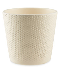 Gardenline 12cm Dots Ceramic Pot - Light Cream