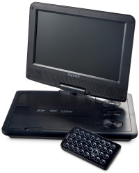 "9"" Portable DVD Player - Graphite Black"
