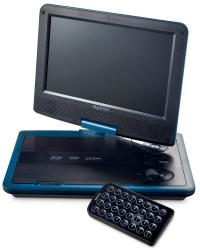 "9"" Portable DVD Player - Light Azure Blue"