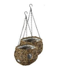 9'' Dark Ball Hanging Baskets Set