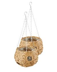 9'' Light Ball Hanging Baskets Set