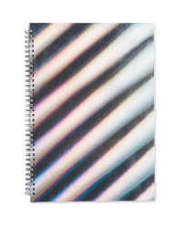 A4 Striped Spiral Bound Notebook