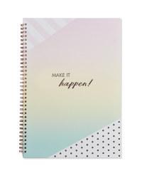A4 Make it Happen Notebook