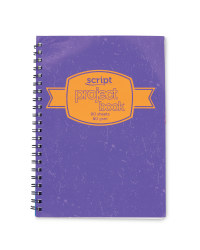A4 Project Book - Purple