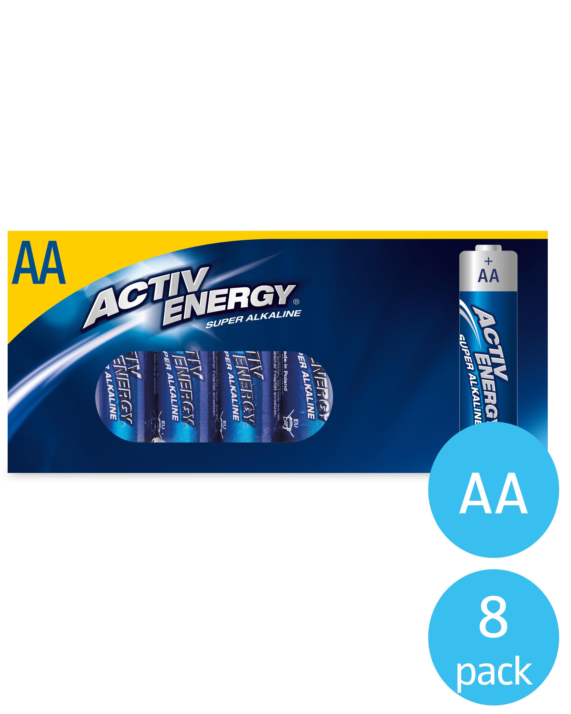 AA Activ Energy Batteries 8 Pack