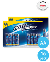 AA Activ Energy Batteries 16 Pack