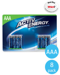 AAA Activ Energy Batteries 8 Pack