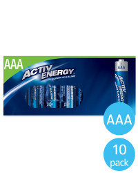 AAA Activ Energy Batteries 10 Pack