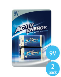 Activ Energy 9V Alkaline Batteries