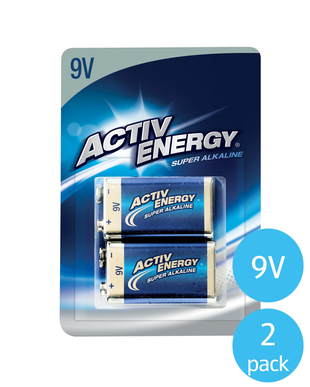Activ Energy 9V Batteries Pack of 2