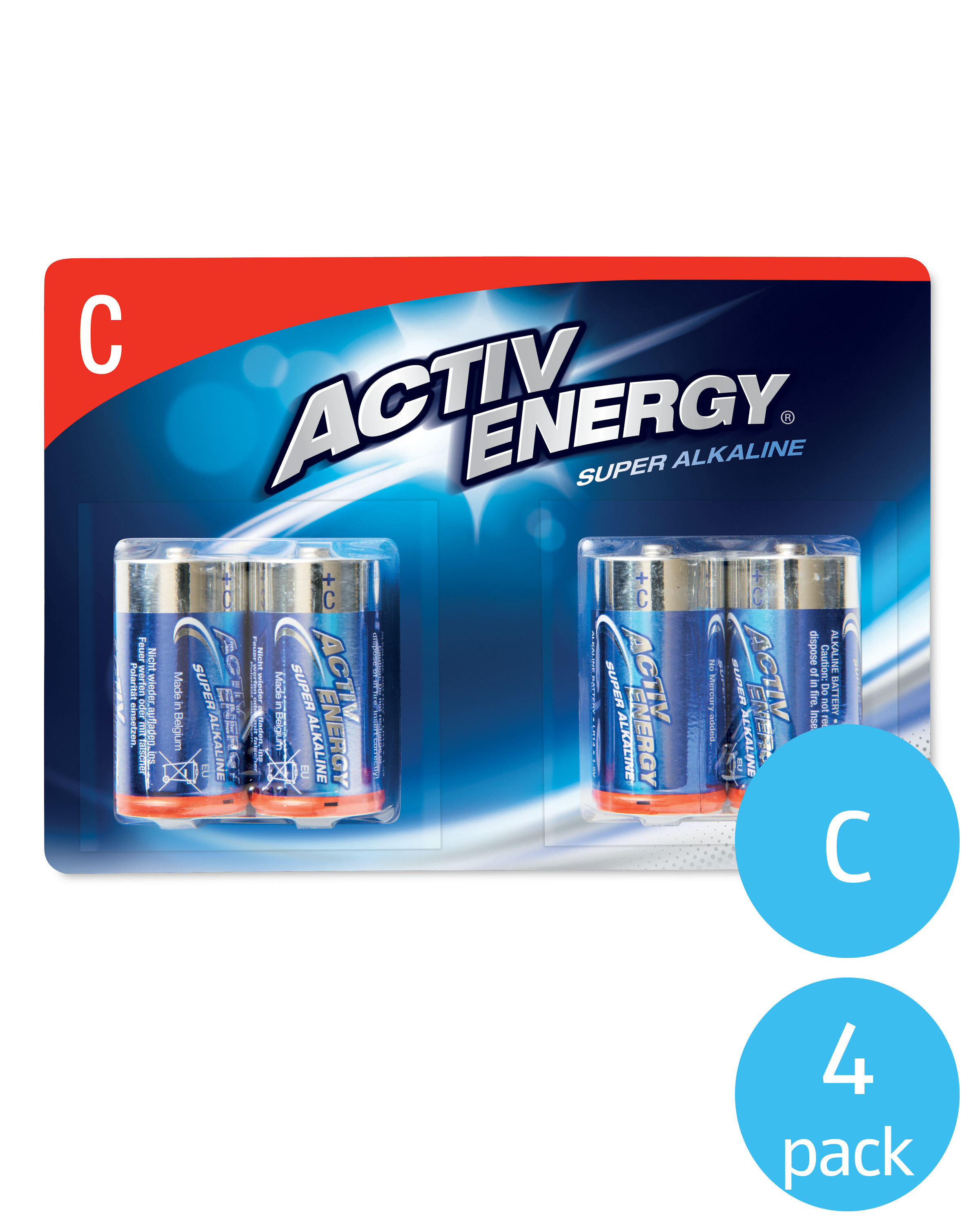 Activ Energy C Batteries Pack of 4