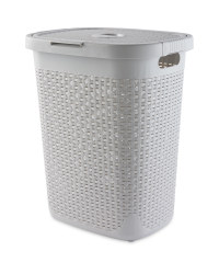 Addis Plastic Laundry Hamper - Light Grey