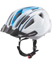 Adult's White/Blue Bike Helmet S/M