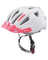 Adult's White/Pink Bike Helmet S/M