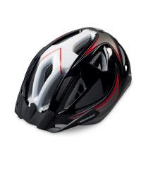 Adult Bike Helmet - Black / Red / White