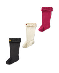 Crane Adults Fleece Welly Socks