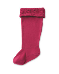 Crane Adults Fleece Welly Socks - Berry