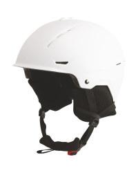 Adults Large White Matt Ski Helmet