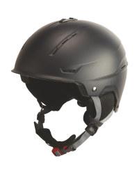Adults' Medium Black Ski Helmet