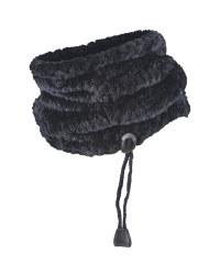 Adult Teddy Fleece Neck Warmer - Black