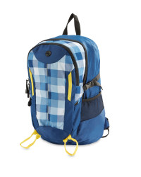Adventuridge Checked Rucksack - Blue