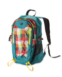 Adventuridge Checked Rucksack - Petrol/Colourful