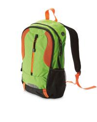 Adventuridge Zipped Rucksack - Green/Orange